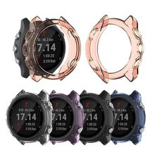 цена на Ultra-Slim Clear TPU Watch Case Protective Cover for Garmin Fenix 5X Plus/5X Kit