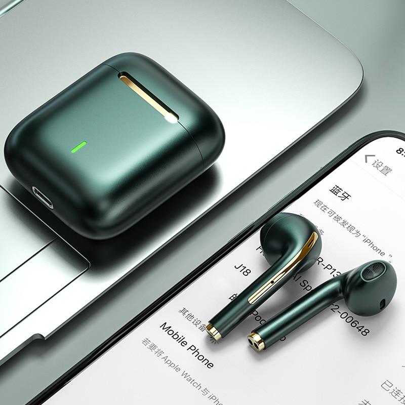 TWS беспроводные наушники Bluetooth 5,0, наушники-вкладыши со сканером отпечатков пальцев, спортивные наушники-вкладыши, гарнитура с микрофоном, з...