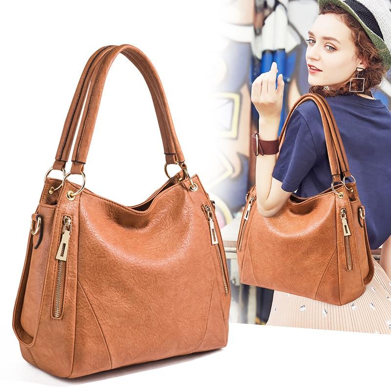 Fashion Bags for Women Leather Handbags Women Bag High Quality Soft Messenger Bags Female Shoulder Bag Ladies Large Bolsos