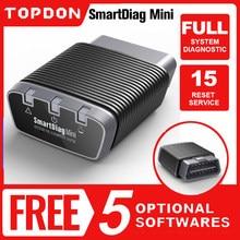 Topdon smartdiag mini bluetooth obd2 scanner ferramenta de diagnóstico automático leitor código easydiag obd ferramenta automotiva como thinkdiag mini