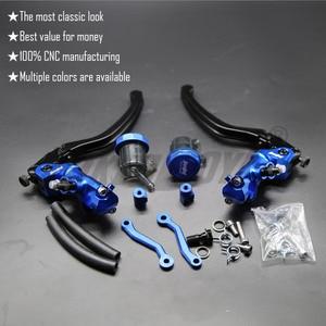 Image 2 - CNC 17,5 RCS Motorrad Bremse Master Zylinder Kabel kupplung Radial Brems Pumpe 22mm Universal Für Honda Yamaha Kawasaki Suzuki