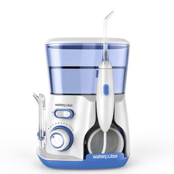 Waterpulse V300G irygator doustny 5 sztuk porady elektryczny Flosser irygator wodny 800ml higiena jamy ustnej nić dentystyczna do czyszczenia wodą V300 tanie i dobre opinie CN (pochodzenie) Elektryczne oral nawadniania Electric