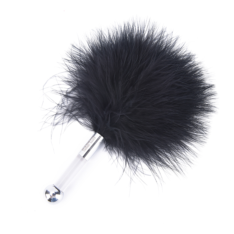 New Black Bird Feather Clit Spanking Flirting Tickler Whip Flirt Soft <font><b>Slave</b></font> Flogger For Women Party Erotic Toy Sex Products Male image