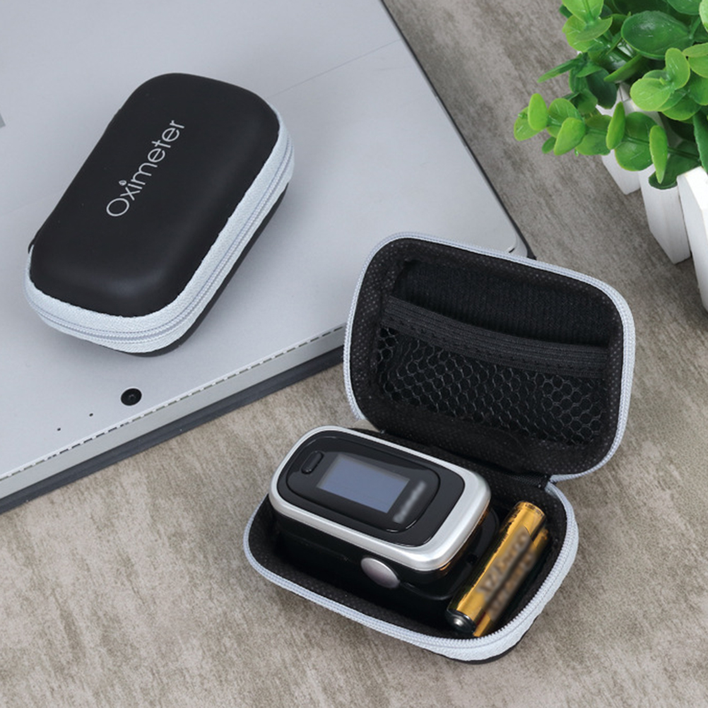 HOT Hard EVA Travel Oximeter Protecive Case Bag Portable Zipper Carry Pouch Box For Fingertip Pulse Oximeter Storage Bag