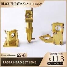 Startnow CO2 Laser Kit di Componenti di Base Testa del Laser Set Lente A Specchio Apparecchio di Supporto Del Supporto Per CNC 2030 Incisore Macchina di Ricambio parte