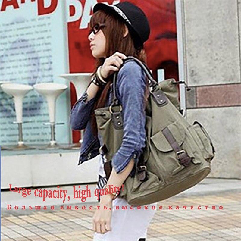 Image 5 - Bolsas Feminina 대용량 포켓 캐주얼 토트 여성 핸드백 숄더 백 캔버스 가죽 용량 여성용 비치 가방 2019숄더 백수화물 & 가방 -