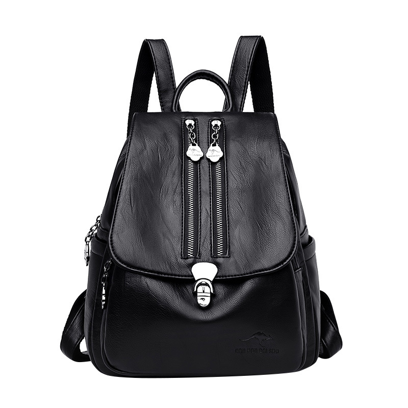 Backpacks Women Stylish And Beautiful Double Protection Zipper With Lock Buckle Casual Backpack