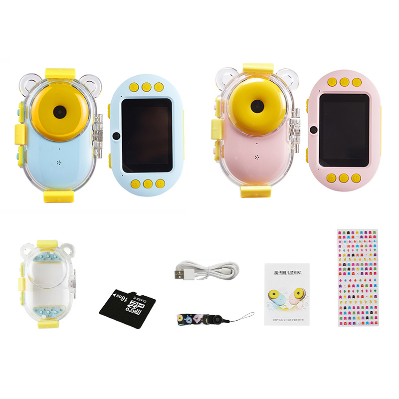Waterproof Digital Wifi Camera For Kids Shockproof And Front And Rear Selfie Camera 1600M,2.4 Inch IPS Screen Children Toys Gift