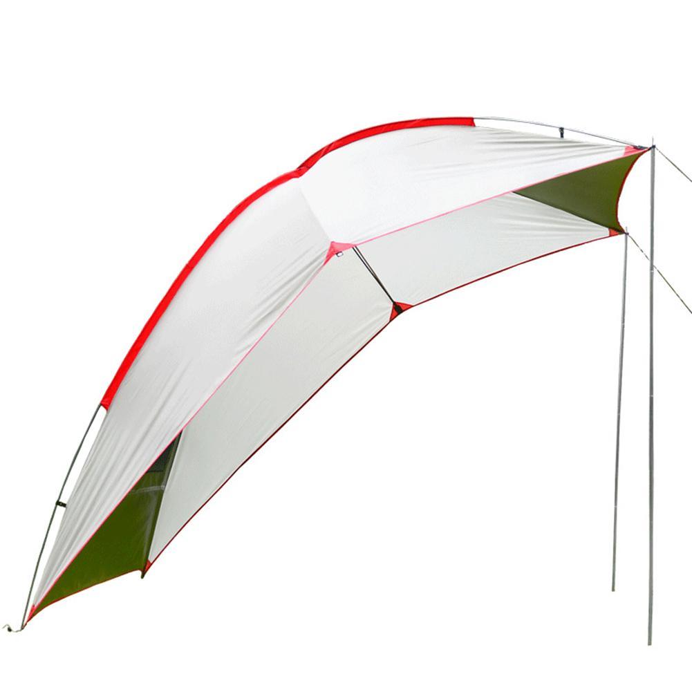 Hohe Qualität Im Freien Tragbare Camper Anhänger Selbst fahren Wasserdichte Markise Strand Baldachin Aluminium Zelt Große Pavillon Sun Shelter