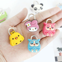 1Pcs Mini Cartoon Padlocks Key Lock with Key Luggage Lock Zipper Bag Backpack Handbag Drawer Cabinet Children Toy