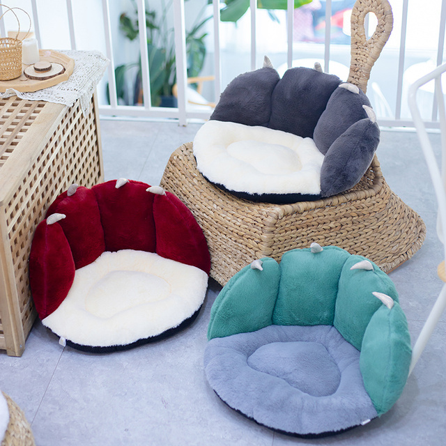 50*43*26cm NEW Stuffed Colorful Cat Paw Fuzzy Plush Sofa Seat Cushion Animal Indoor Floor Chair Pillow for Winter Warm 2