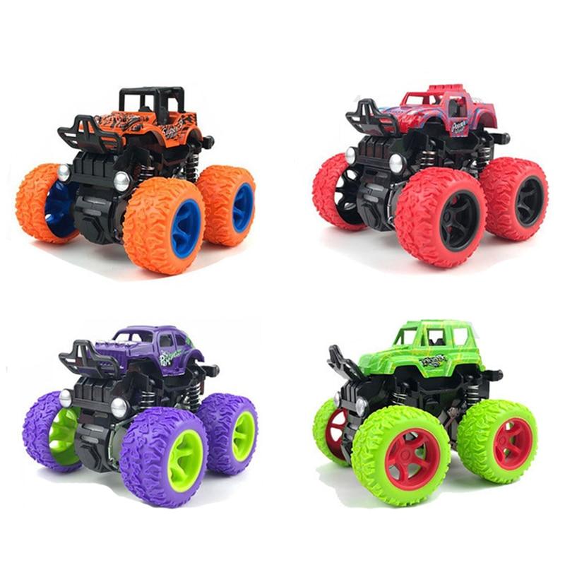 Мини-инерционный внедорожный автомобиль, откат, детская Игрушечная машина, пластиковый фрикционный трюк, автомобиль, Juguetes Carro, детские игру...
