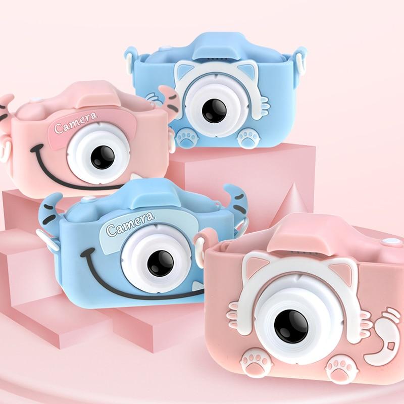 New Children's Camera Waterproof 1080p Hd Screen Camera Video Toy 2000w Pixel Kids Cartoon Cute Camera Outdoor Photography Kids