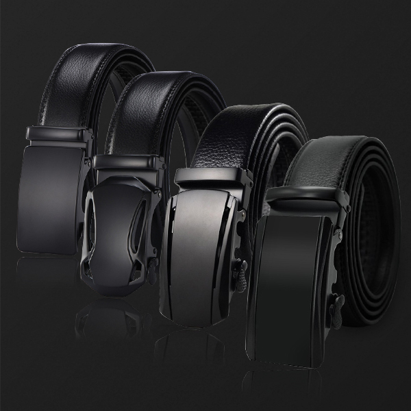 new belt decorative alloy automatic buckle belt male genuine leather men's simple belt fashion designer business 1