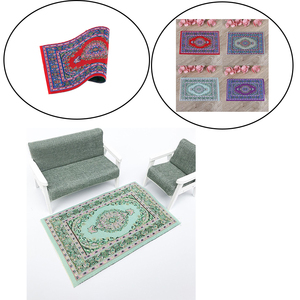 Woven Hand Turkish Rugs Doll House Mini Carpet Mat Miniature Casa De Boneca For 1:12 Scale DIY Dollhouse Accessories Kit(China)