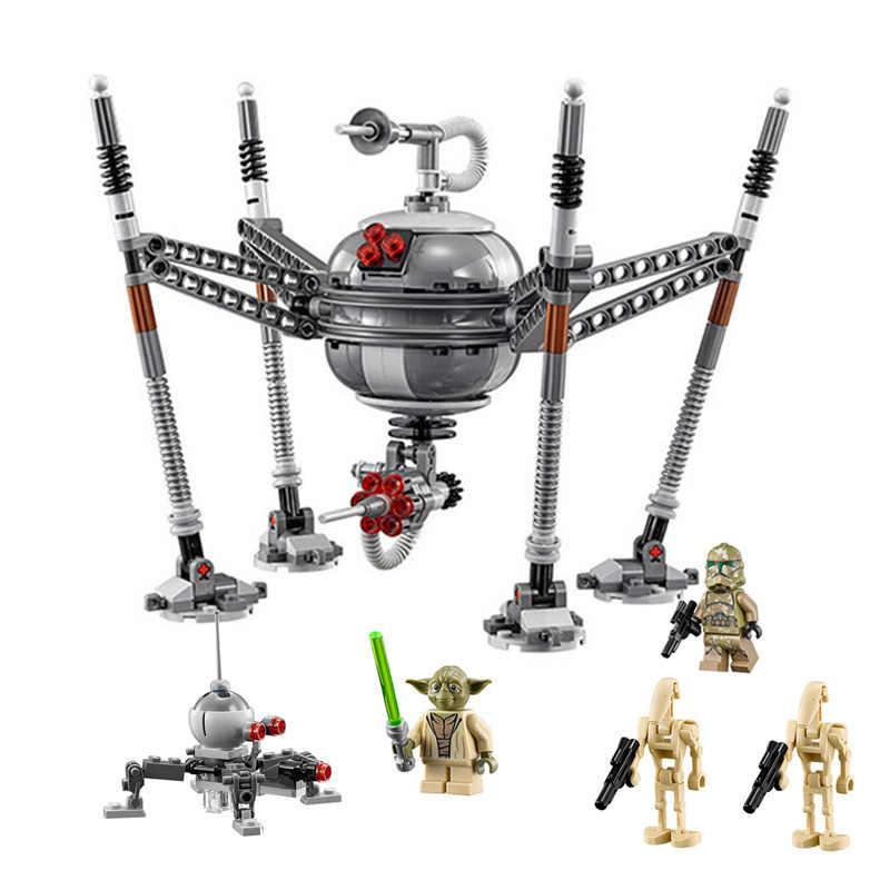 05025 роботы-пауки, строительные блоки, совместимые с Lepining, Звездные войны, 75142, Звездные войны, кирпичи, подарок на день рождения, игрушки для детей