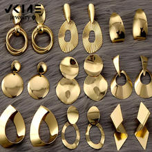 Vkem высокое качество Золотые серьги для женщин капли 2020 новинка