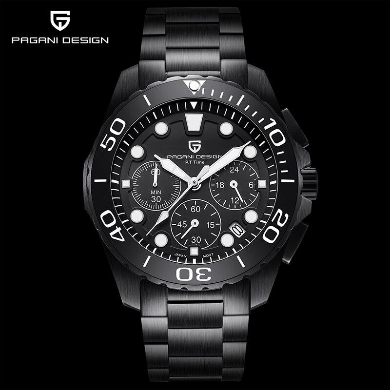 PAGANI Design men's quartz watches top luxury brand business watch sport fashion men chronograph man steel waterproof clock 2020