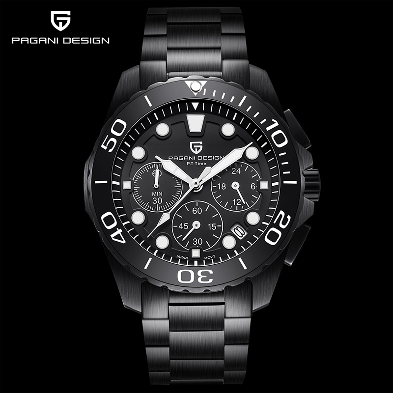 PAGANI Design men's quartz watches top luxury brand business watch sport fashion men chronograph man steel waterproof clock 2020|Quartz Watches| - AliExpress