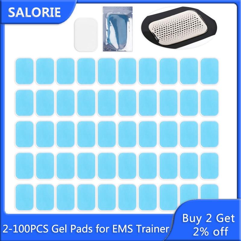 2-100 Stuks Gel Pads Voor Ems Abdominale Abs Trainer Hip Exerciser Vervanging Body Massager Patch Massage Machine Spier stimulator