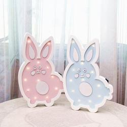 Ins Nordic Rabbit LED Wall Decoration Girls Room Wall Decoration Gifts