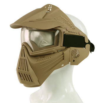 Tactical PC Lens Eyes Protection Airsoft Air Guns Mask Full Face Mask Live CS Paintball Outdoor Shooting Game Accessories