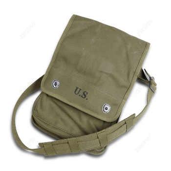 WW2 armée toile carte sac Militaire carte Pack articles divers sac armée vert