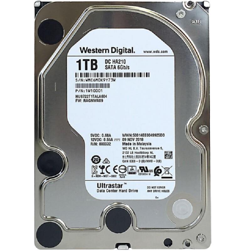 Western Digital 1TB 2TB 4TB 6TB 8TB 10TB Ultrastar DC HC320 SATA HDD 7200 RPM Class SATA 6Gb/s 256MB Cache 3.5