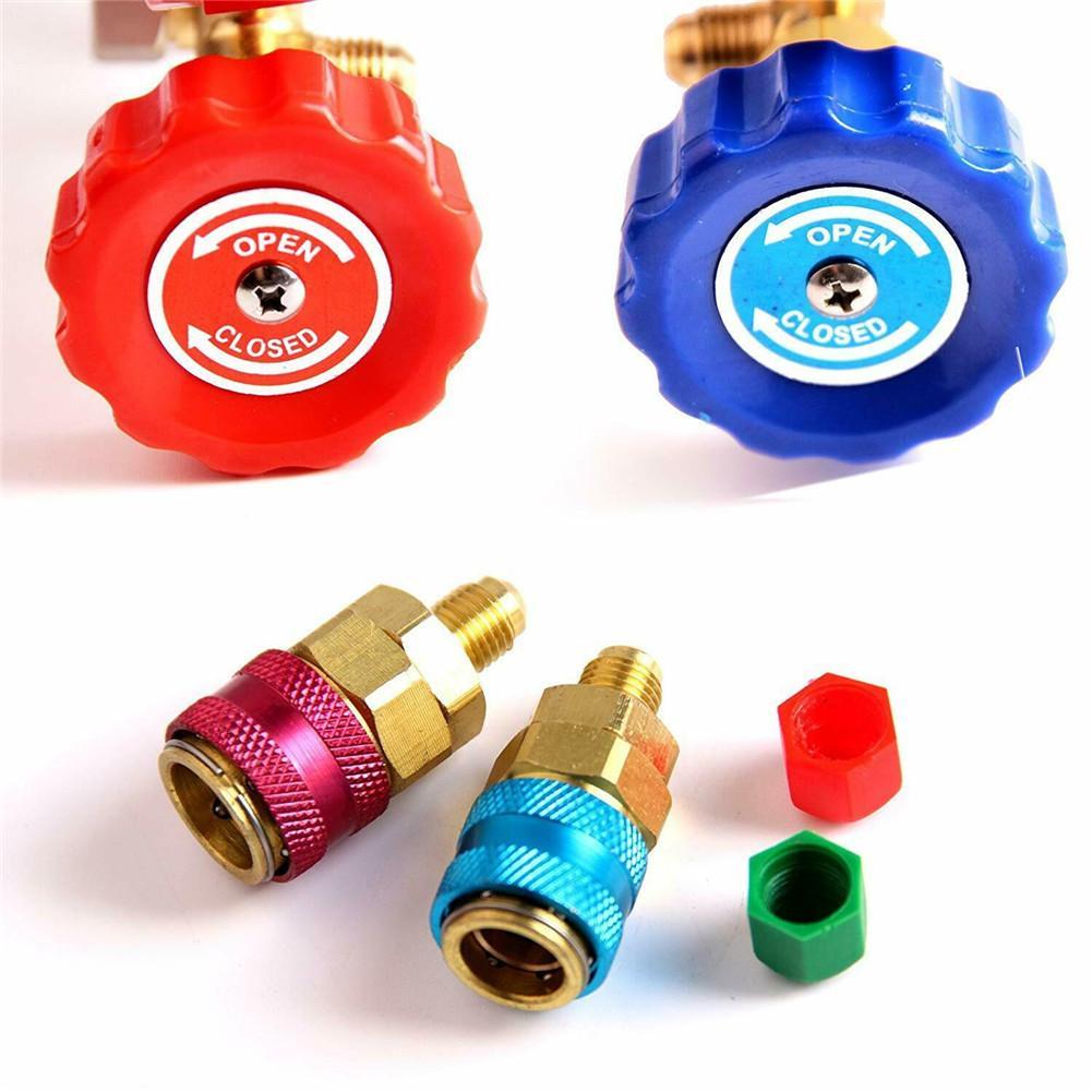 AC Diagnostic Manifold Freon Gauge Set Air Conditioning Tool For R134A R12 R22 R502 Refrigerants