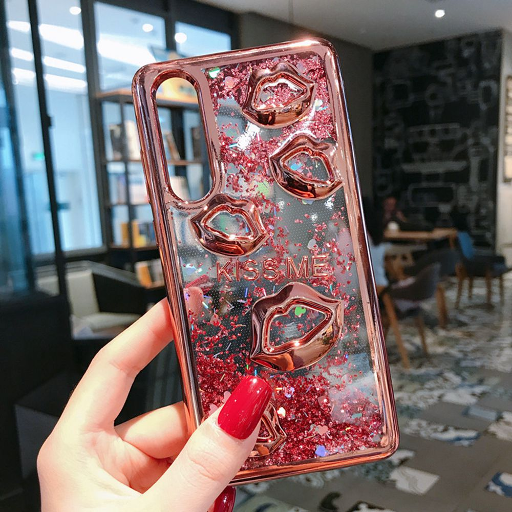 Glitter Quicksand Case For Huawei P20 P30 Lite Pro Phone Case Liquid Coque For Huawei P20 Mate10 Lite Nova 4 3i Crystal Covers in Half wrapped Cases from Cellphones Telecommunications