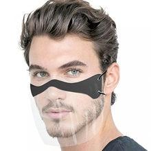 Mascarilla facial transparente para adultos, máscara de protección facial, cosplay de Halloween, combinada de plástico