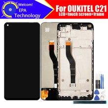 6.4 polegada oukitel c21 display lcd + digitador da tela de toque assembléia 100% original novo lcd digitador toque para c21 ferramentas