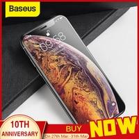 Baseus 0.3mm vidro temperado para iphone x xs capa completa de vidro protetor de tela de proteção para iphone xs para iphone x xs|Protetores de tela de telefone| |  -