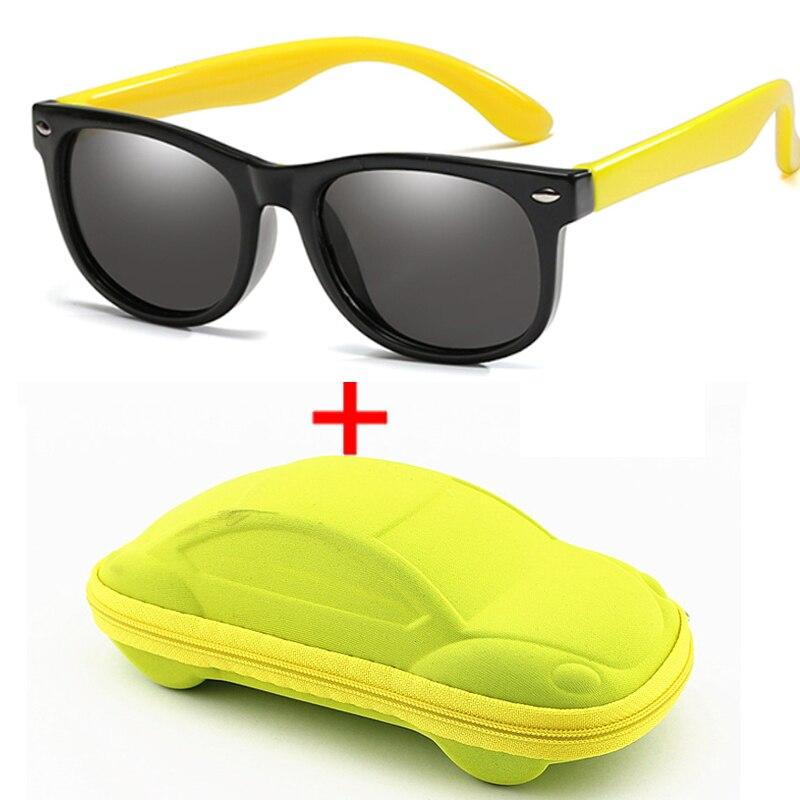 WarBlade Children Polarized Sunglasses Boys Girl Baby Silicone Safety Kids Sun Glasses 100% UV400 Eyewear Child Oculos With Case