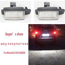 Для Mitsubishi OUTLANDER XL(CW) 2006-2012 светодиодный номерной знак лампы для Lancer Sportback 2008~ 2012 автомобильные аксессуары