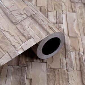 Image 5 - Самоклеящиеся обои в стиле ретро с имитацией кирпича, водонепроницаемая Наклейка на стену для гостиной, кухни, ресторана, настенная 3D Бумага