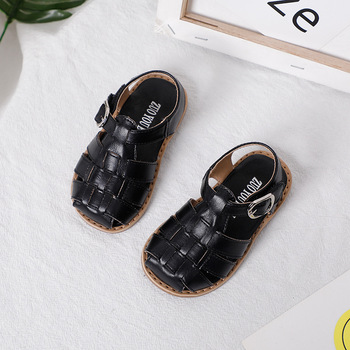 Breathable Beach Shoes Hook Loop Girls Shoes Closed Toe Infant Shoes Soft Comfortable Boys Sandals New Kids Summer Toddler Shoes