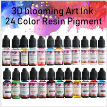 Pigmento de resina epoxi para fabricación de joyas, Kit de Arte de resina líquida, tinta colorante, difusión de tinta para Molde de resina Epoxy, 24 colores, 10ML