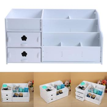 Makeup Organizer Storage Box Cosmetics Box Lipstick Earring Jewelry Box Case Holder Display Stand Desktop Make Up Tool фото