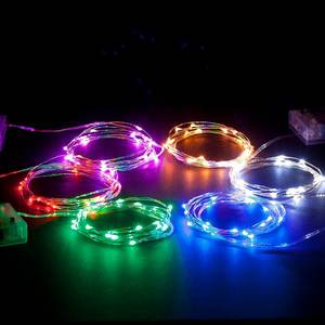 Led-String Battery-Powered Silver-Wire Weddding Holiday 20 2M for 100pcs 3AA Mini G/B