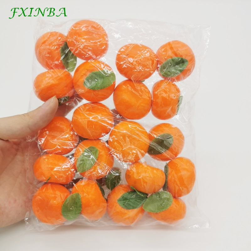 FXINBA 20Pcs Mini Artificial Fruit Peach Foam Apple Cherry Pear Simulation Fake Fruit Model Props Party Kitchen Decoration Toys