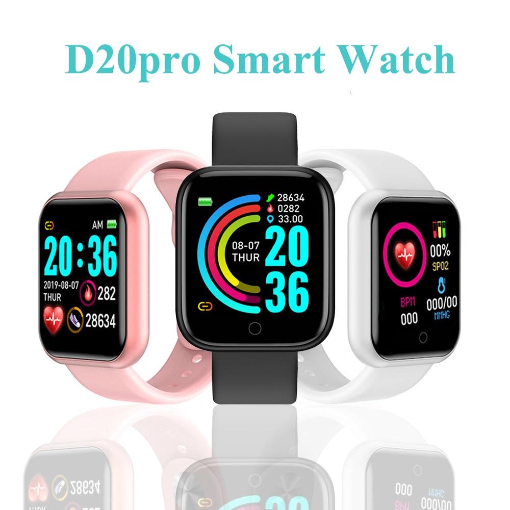 D20pro Men Women Smart Watch Waterproof Blood Pressure Smartwatch Heart Rate Monitor Sleep Tracker Clock Watch For Android IOS