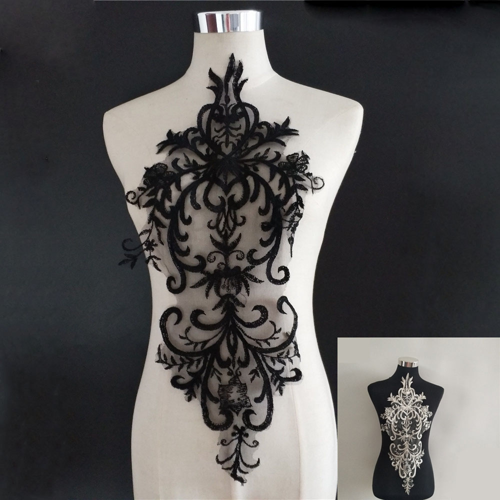 Moda bordado decote de renda tule costura diy design de roupas decoração rendas colar acessórios artesanato suprimentos scrapbook