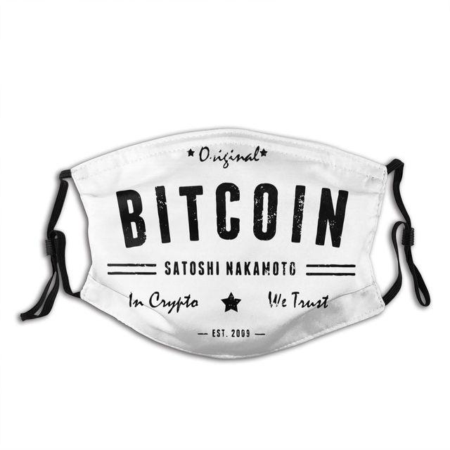 Bitcoin Satoshi Crypto Logo Non-Disposable Mouth Face Mask 1