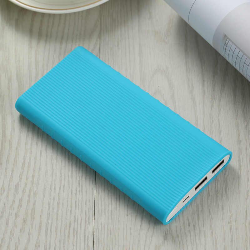 1 sztuk silikonowe Protector skrzynki pokrywa dla powerbank Xiaomi 2 10000MAh podwójny Port USB skóry rękawem dla PLM09ZM ładowarki akcesoria