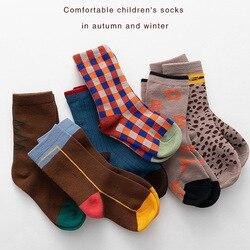 3 pares bebê infantil meninos meninas meias recém-nascidos da criança sokken algodão outono inverno perna mais quente adequado para 1-8y crianças