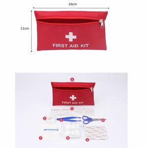 Image 2 - 8Pcs סט נסיעות אביזרי חיצונית עמיד למים משפחת מיני בטוח חירום ספורט הישרדות רפואי טיפול קיט