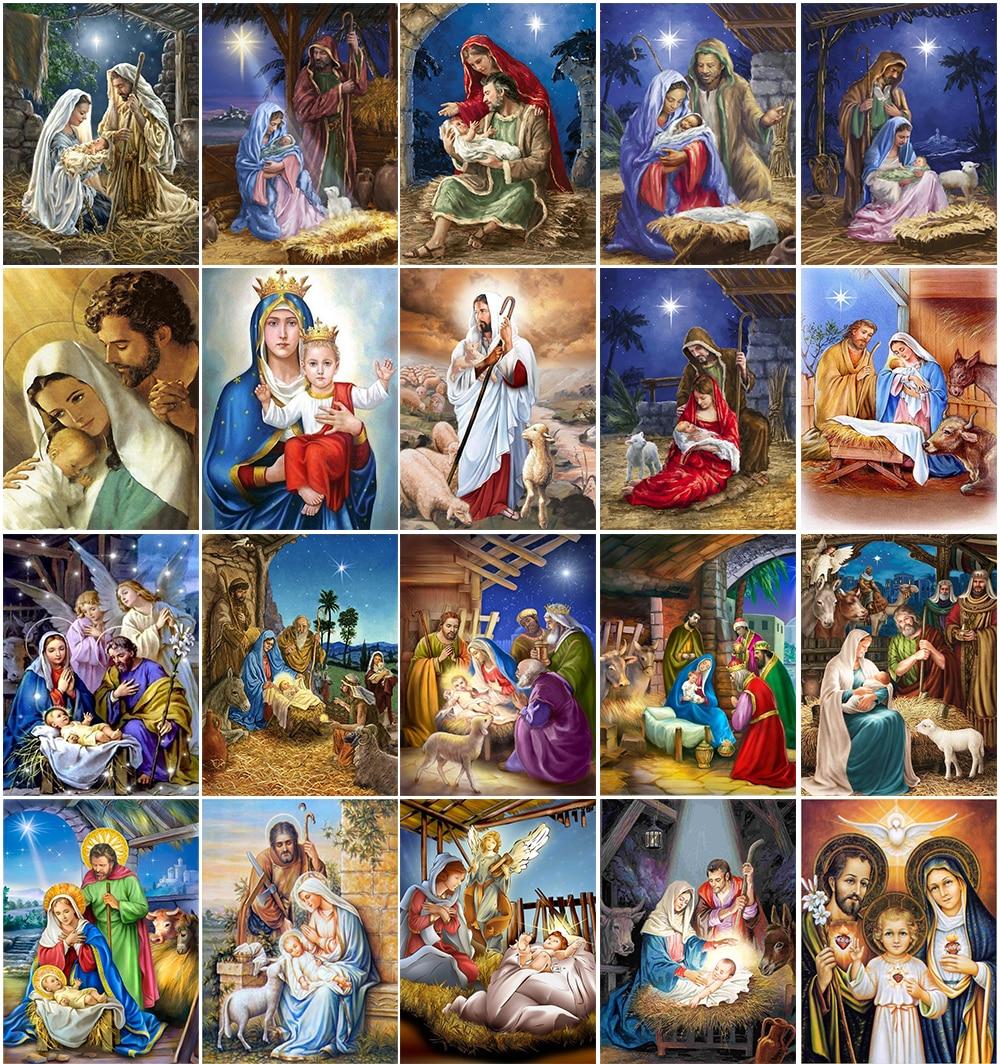 5D алмазная живопись своими руками, религиозная мама и ребенок, алмазная Вышивка крестиком, Алмазная мозаика, украшение для дома, подарок