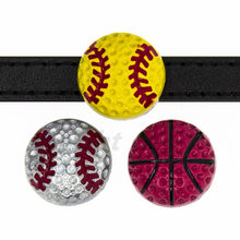 1pc 8mm sport série (pas de strass) basketball baseball curseur charmes Fit Pet collier bricolage Bracelet Bracelet porte-clés bijoux(China)