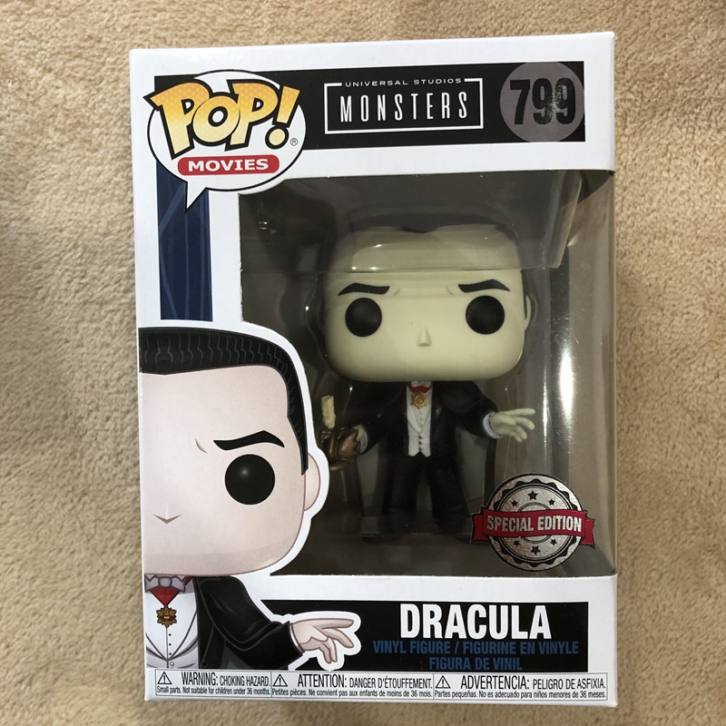 Exclusive Official Funko Pop Universal Monsters - Dracula Vinyl Action Figure Collectible Model Toy With Original Box